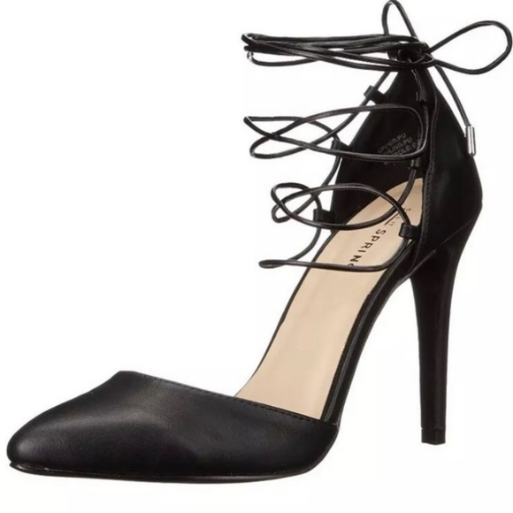Call It Spring Shoes - Call It Spring black lace up stiletto pump heels 9